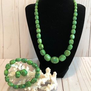 Jay King Mine Finds Green Turquoise Set